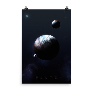 noble-6 design pluto planet space poster