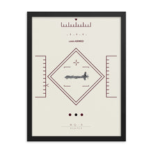 "Load image into Gallery viewer, ""MQ-9 Reaper"" Framed Matte Poster"
