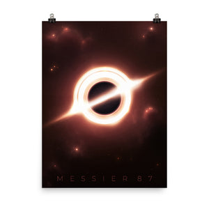 """Messier 87 Black Hole"" Premium Luster Photo Paper Poster"