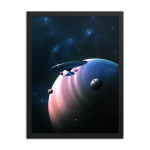 """Strange New Worlds"" Framed Premium Luster Photo Paper Poster"