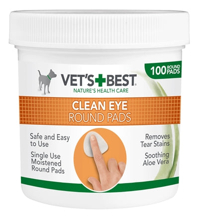 Vets Best Clean Eye Round Pads 100 ST