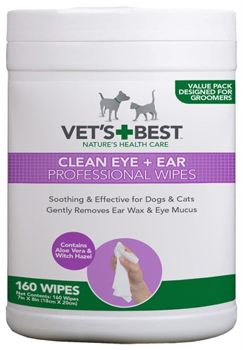 Vets Best Clean Ear / Eye Wipes Hond 160 ST