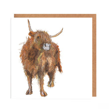 Load image into Gallery viewer, Highland Cow - 'Adrian' Card for all Occasions