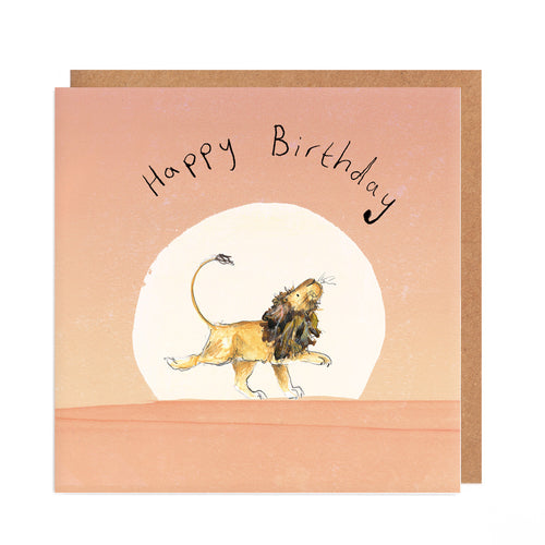 Arlo the Lion Sunset Birthday Card