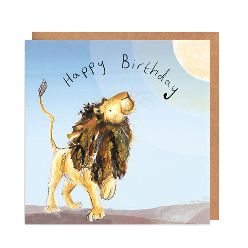 Arlo the Lion Sunshine Birthday Card