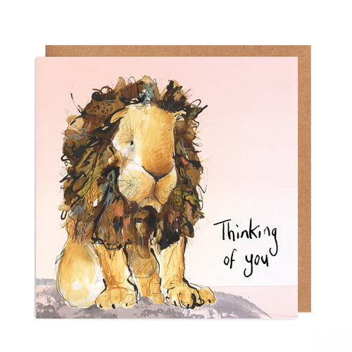 Arlo the Lion Thinking of you Card
