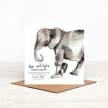 Load image into Gallery viewer, Elephant New Baby Card - Ava & Ayla