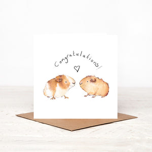 Gary & Carri Guinea Pigs Congratulations Card