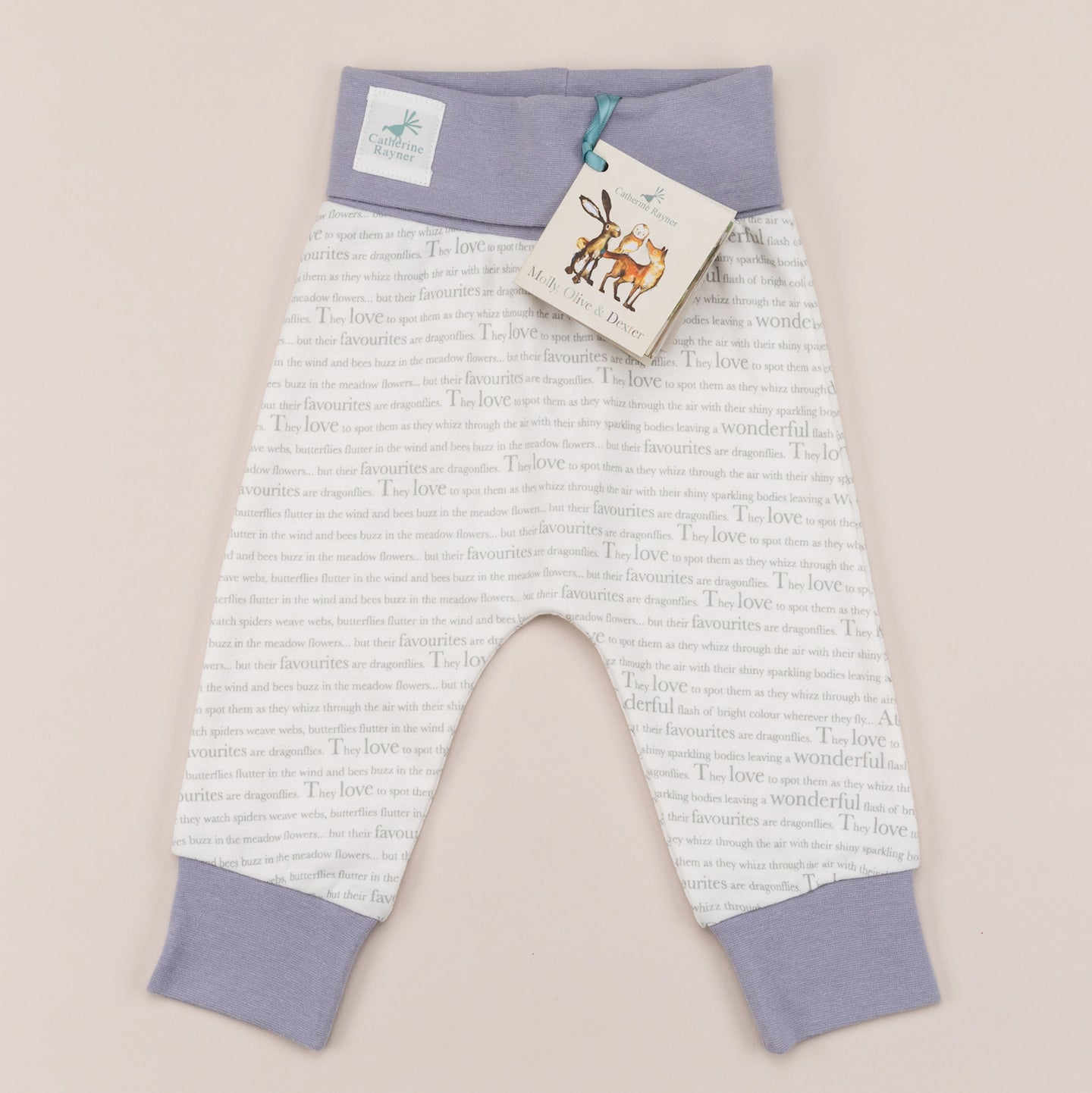 Storytime jogging trousers with heather trim front