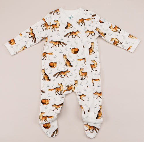 Dexter the fox babygrow front