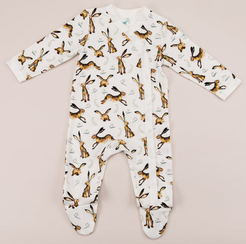Molly the hare babygrow front