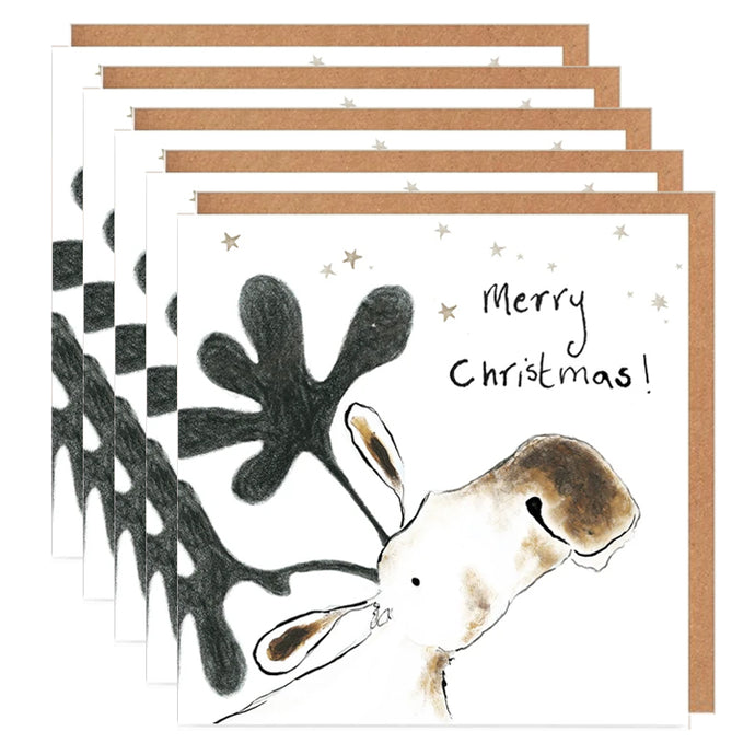 Pack of 5 'Ernest' Moose Charity Christmas Cards