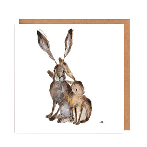 'Gabrielle & Freya' Hares Card for all Occasions