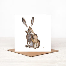 Load image into Gallery viewer, 'Gabrielle & Freya' Hares Card for all Occasions