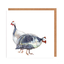 Load image into Gallery viewer, Guinea Fowl Couple Card for all Occasions