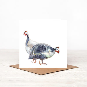 Guinea Fowl Couple Card for all Occasions