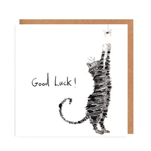 Black Cat 'Gobbolino' Good Luck Card