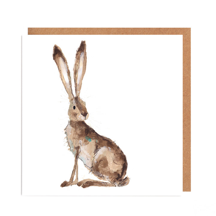 'Hilary' Hare Card for all Occasions