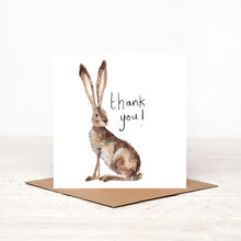 Load image into Gallery viewer, Hilary Hare Thank You Card