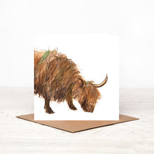 Load image into Gallery viewer, Highland Cow - 'Howard' - Card for all Occasions