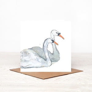 Beautiful Swans - Lucy & Martin - Card for all occasions