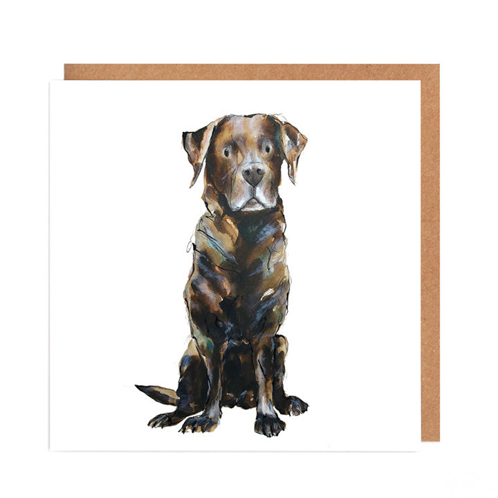 Chocolate Labrador - 'Mabel' - Card for all Occasions