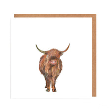 Load image into Gallery viewer, Highland Cow - 'Magnus' - Card for all Occasions