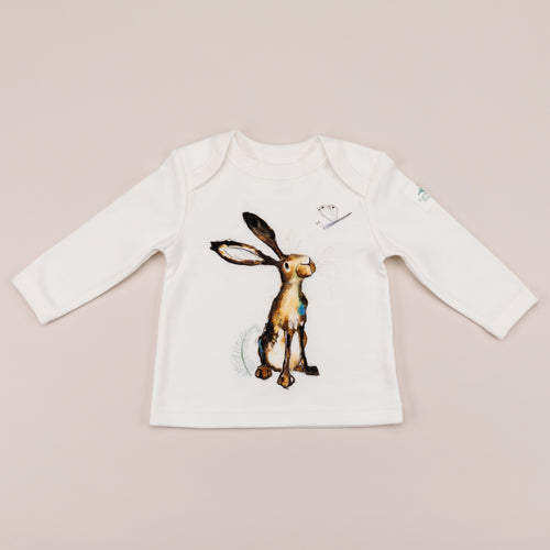 Molly the hare long sleeve t-shirt front