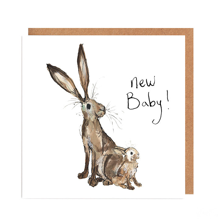 New Baby Hare card - Molly & Meredith