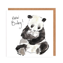 Load image into Gallery viewer, New Baby Panda card - Mona & Jasmine