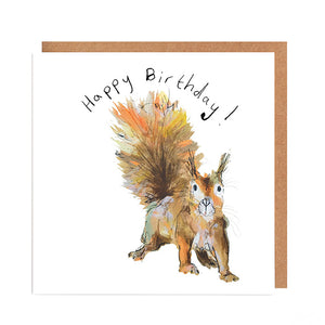 Moses the Red Squirrel Birthday Card