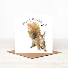 Load image into Gallery viewer, Moses the Red Squirrel Birthday Card