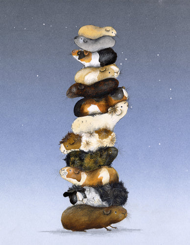 Guinea Pig Print- 'The Tower of Guineas'