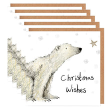 Load image into Gallery viewer, Pack of 5 Paddy Polar Bear Charity Christmas Cards