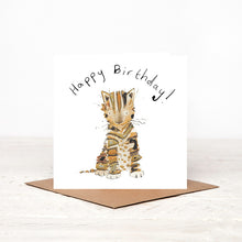 Load image into Gallery viewer, Posy Kitten Birthday Card