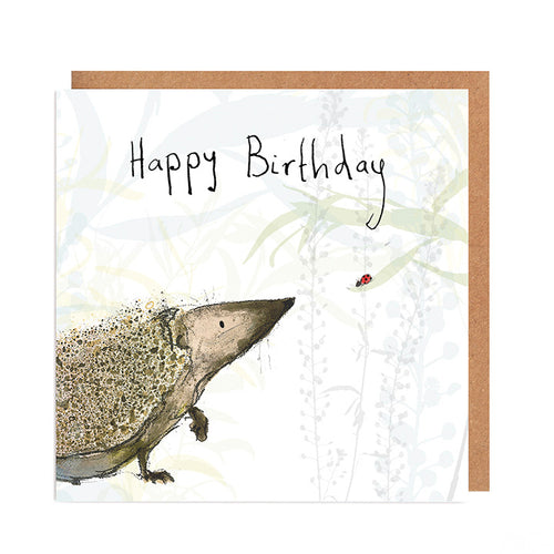 Russ Hedgehog Birthday Card