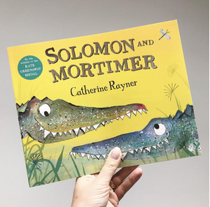 Two Cheeky Crocodiles print - 'Solomon and Mortimer'