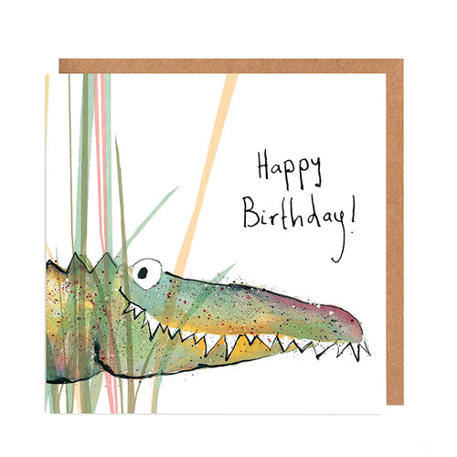Solomon Crocodile Birthday Card