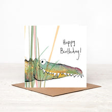 Load image into Gallery viewer, Solomon Crocodile Birthday Card
