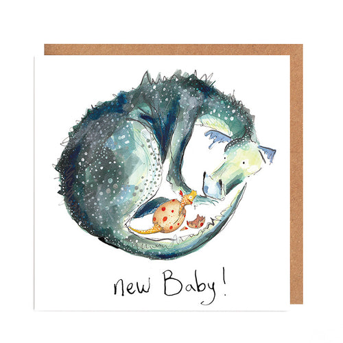 New Baby Card - Sylvia & Pearl