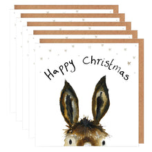 Load image into Gallery viewer, Pack of 5 Donkey Charity Christmas Cards - 'Trevor'