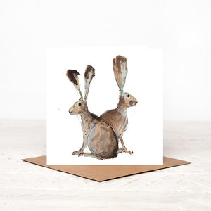 Hare Pair - Vera & Caroline - Card for all Occasions