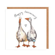 Load image into Gallery viewer, Pair of Geese Happy Anniversary Card