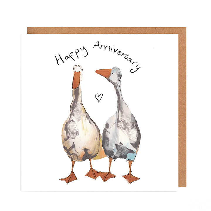 Pair of Geese Happy Anniversary Card