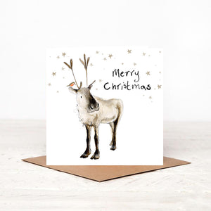 Pack of 5 Reindeer Charity Christmas Cards - 'Adolphus'