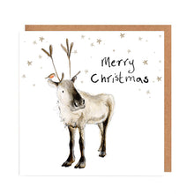 Load image into Gallery viewer, Pack of 5 Reindeer Charity Christmas Cards - 'Adolphus'