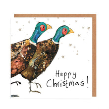 Load image into Gallery viewer, Pack of 5 Pair of Pheasants Charity Christmas Cards 'Miles & Giles'