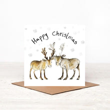 Load image into Gallery viewer, Baby Reindeer Charity Christmas Card 'Miriam and Madeleine'