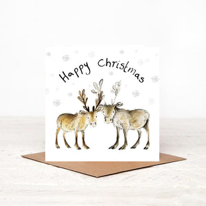Baby Reindeer Charity Christmas Card 'Miriam and Madeleine'