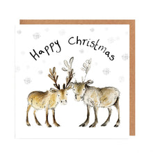 Load image into Gallery viewer, Pack of 5 Baby Reindeer Charity Christmas Cards - 'Miriam and Madeleine'